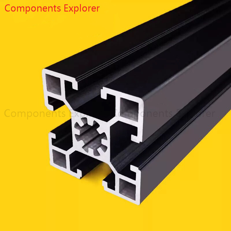 Arbitrary Cutting 1000mm 4545 Black  Aluminum Extrusion Profile,Black Color.