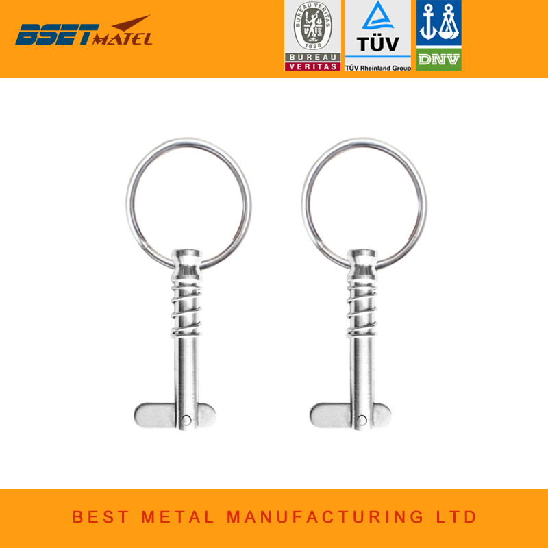 BSET MATEL 2 pcs Stainless Steel 316 Quick Release Pin with ring for Boat Bimini Top Deck Hinge Marine hardware