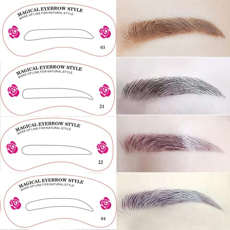 Aliexpress Buy 24pcslot Eyebrow Stencils 24 Styles Reusable