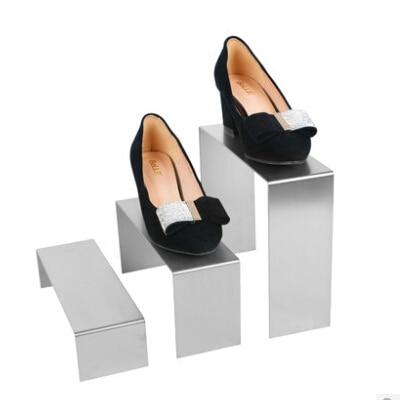 Showcase Stainless Steel Shoe Rack Display Platform Level Inverted U