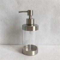 1pc Kitchen Hand Foaming Liquid Soap Dispenser Pump Bottle Stainless Sanitizer Shampoo Lotion Container Bathroom Ke