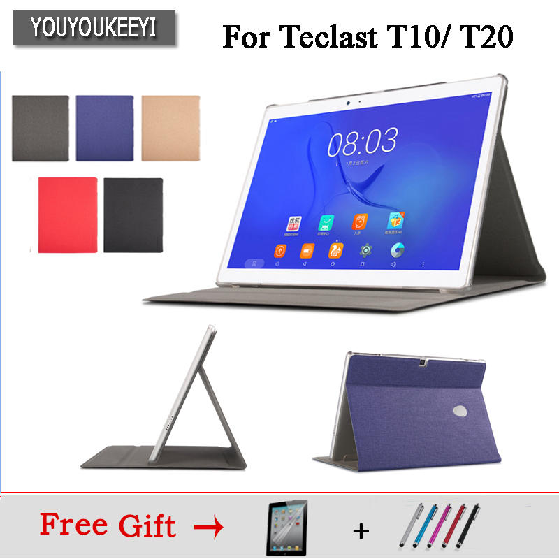 High Quality Business Pu Leather Protective Case Stand Cover For Teclast T20 T10 10.1inch Tablet+protector Film+Stylus As Gifts