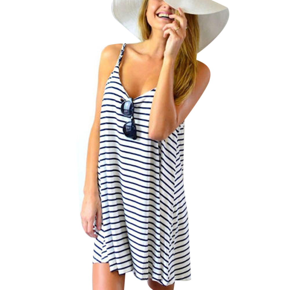 Casual White Sundress Promotion-Shop for Promotional Casual White ...