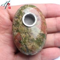 5-6 cm Doğal Reki Kuvars Şifa kristal Oval Çakra Taş Sigara Sigara Tütün Taş Boru Dekor Ve Noel hediye