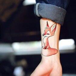 Водостойкая временная татуировка милая белка, лиса собака змея животное тату наклейки флэш-тату поддельные татуировки для девочек, женщин 4