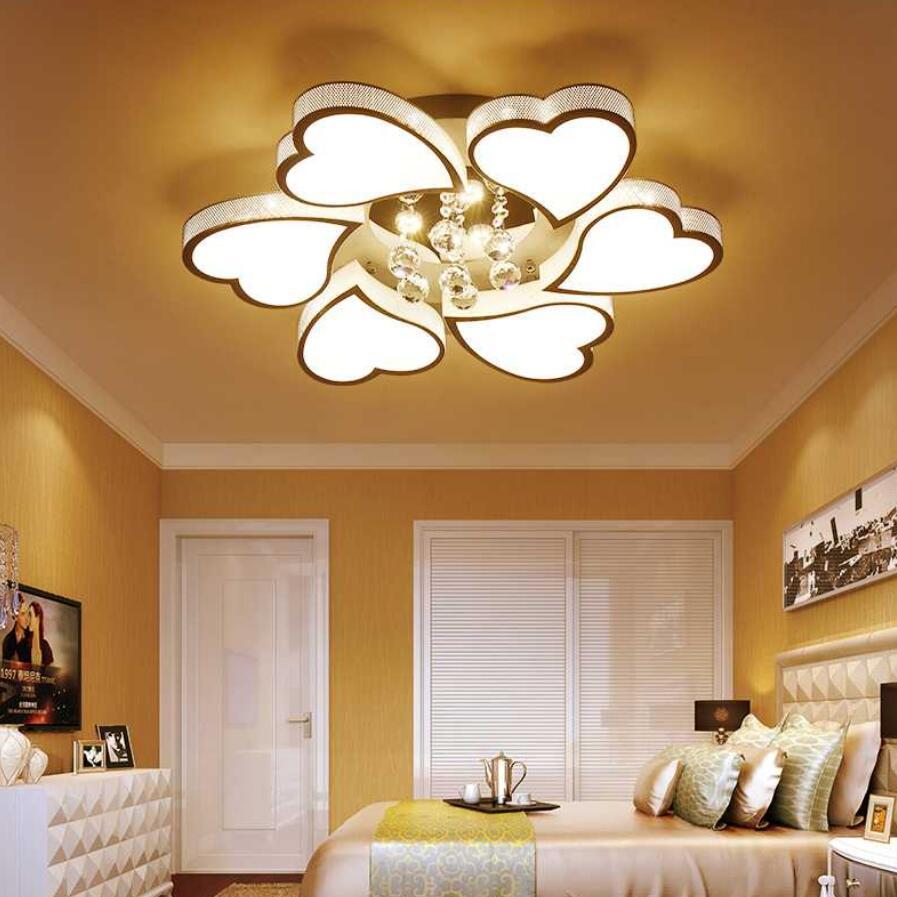 Fashion Led Heart Shaped Ceiling Lights Living Room Lamps High Bright Re Light Lamp