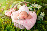 baby hat with blanket one set Crochet Baby Hat, Newborn Baby Girl Hat for Photo Prop Infant Beanie blanket size 60*40cm