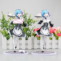 2 Style Sexy Anime Action Figure Re:Life In A Different World From Zero Meteor Hammer Rem Maid Ver 22cm PVC Model Collection Toy