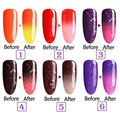 natural pure Healthy brand-Lavander Temperature Thermal Color Change nail gel polish need uv led lamp to cure green safe healthy