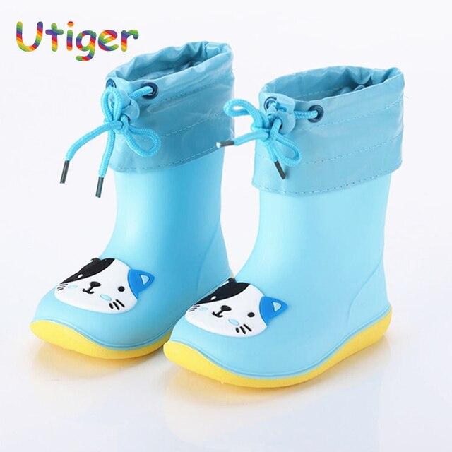 los angeles c5897 2e332 US $8.87 26% OFF|Kinder Regen Stiefel Kinder Wasserdichte Schuhe Baby Regen  Schuhe Mädchen Jungen regen schuhe Mode Mädchen Gummi stiefel größe 22 30  ...