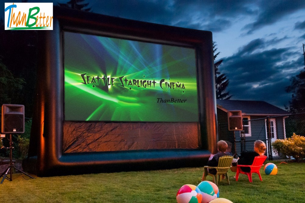 16:9 outdoor cinema screen inflatable movie screen, inflatable TV for sale