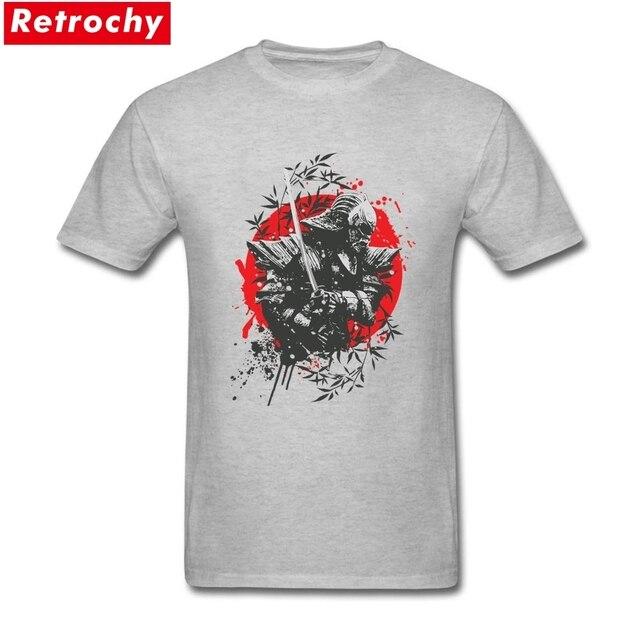 cf15e6da Black Samurai Mens Slim Fit Short Sleeve T Shirts O Neck 100% Cotton Custom  Screen Print Yasuke Japanese Tshirt for Men