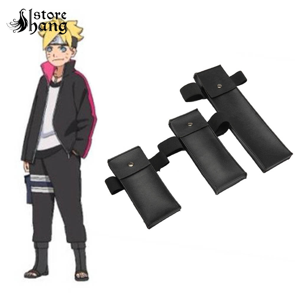 BORUTO -NARUTO THE MOVIE- Naruto Boruto Kunai Packs Shurike Konoha Leg Bag 3 Size Available Naruto Ninja Cosplay Accessories Set