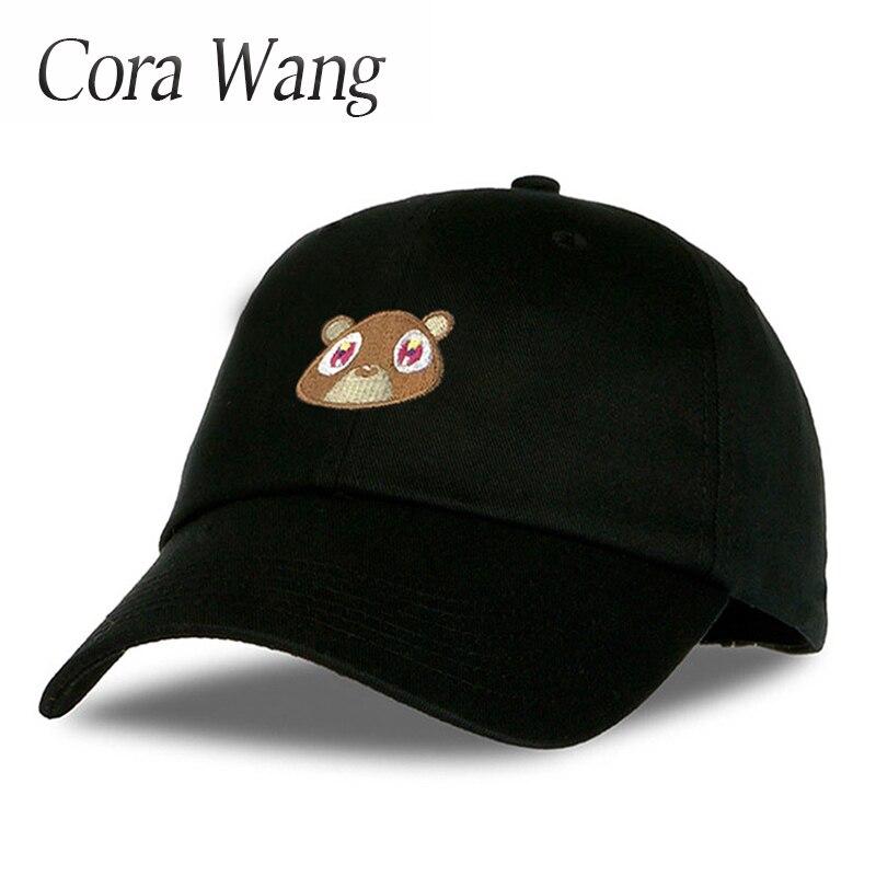 Cora Wang Snapback men's hats Baby Bear Embroidery Baseball Caps fitted cap Solid Color off white Pink Black women hat cora wang king crown baseball cap women