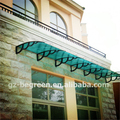 YP100600 100x600cm 39x236in solid polycarbonate awning ,polycarbonate canopy ,door awning aluminum