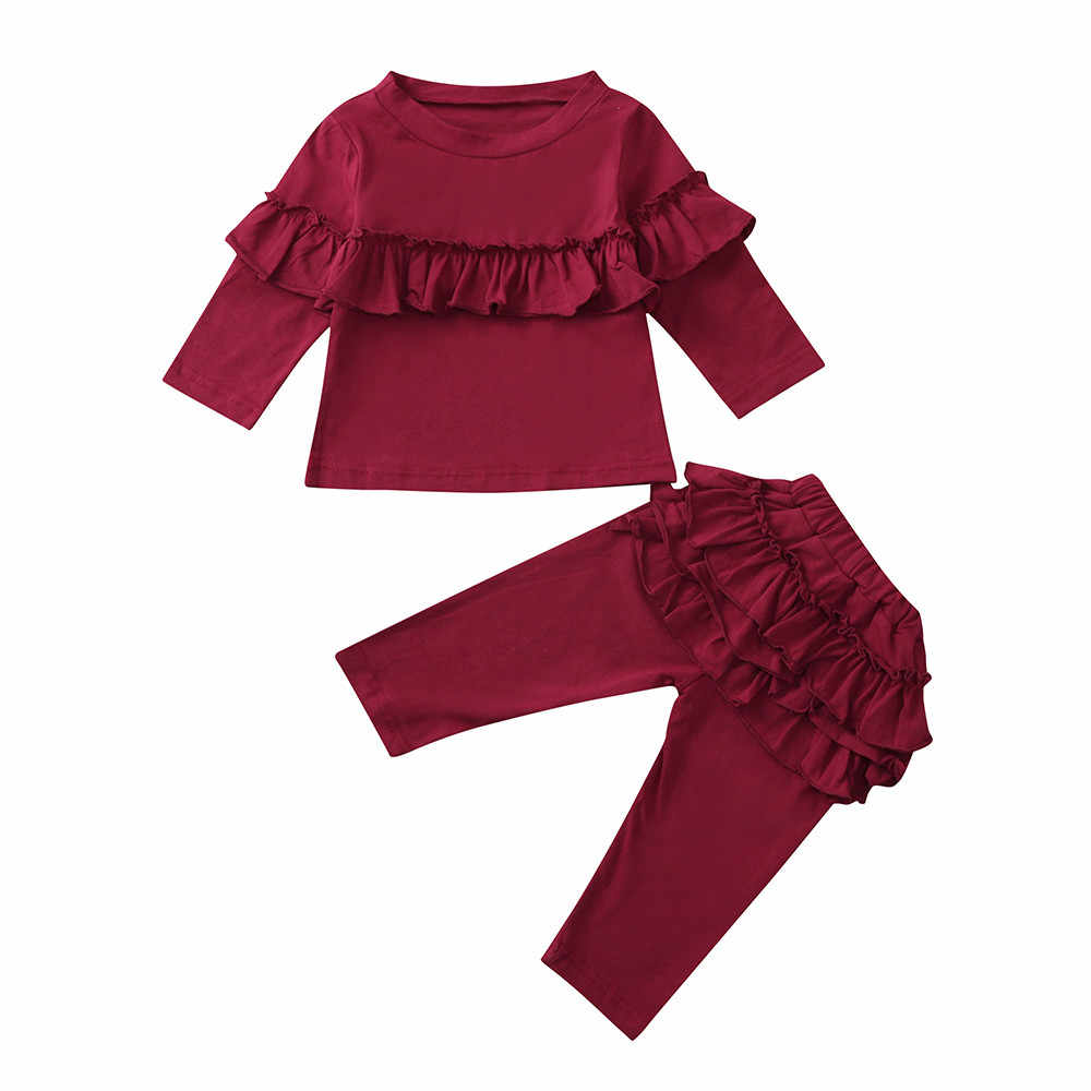 79b5f2e5 2PCS Newborn Baby Girl Clothes Set Infant Clothes Girls Long Sleeve T-shirts  Tops Baby
