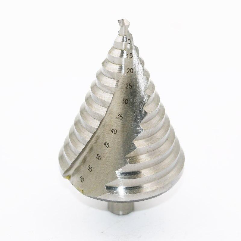 6-60mm grande taille ouvre-trou haute vitesse en acier spirale rainure étape perceuse tour perceuse Triangle perceuse multi-fonction perceuse