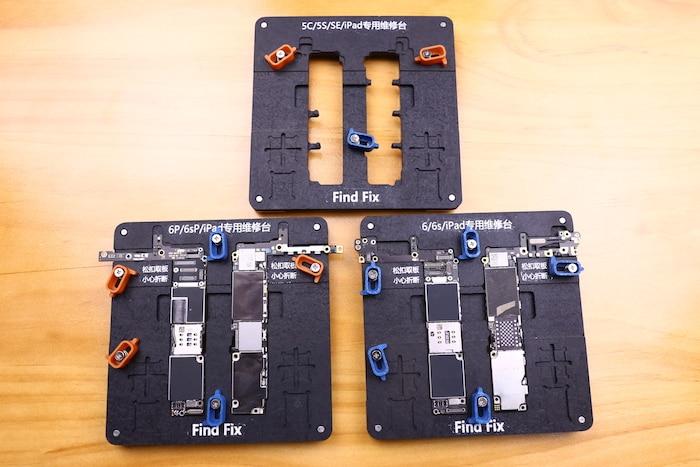 imágenes para Encontrar solución estacionaria accesorio para reparar la placa madre del teléfono móvil de iphone 6 6s 6 p 6sp 5S sí 5c ipad