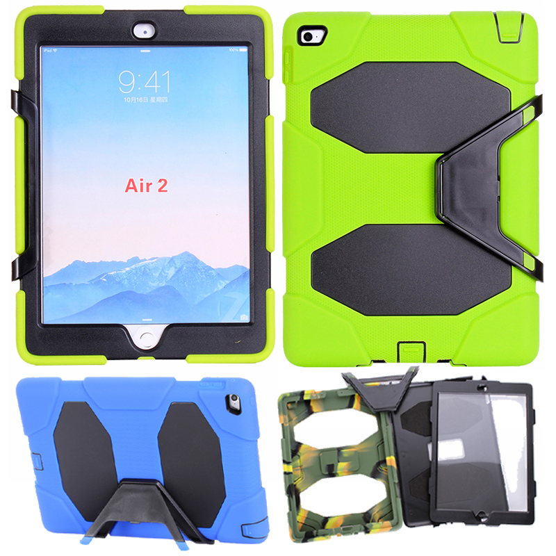 For iPad air 2 child Tablet case Heavy Duty Rugged Impact Hybrid Case shockproof Protective Cover For ipad 6 fundas A1566 A1567 szegychx tablet case for ipad air 2 eva heavy duty shockproof hybrid rubber rugged hard protective skin safe shell cover case