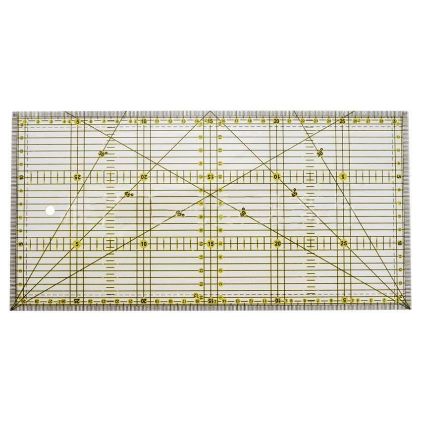 30*15cm Cutting Ruler DIY Garment Design Drawing Cutting Craft Ruler Sewing Mat Making Patchwork Cloth Ruler 30° 45° 60° 90°