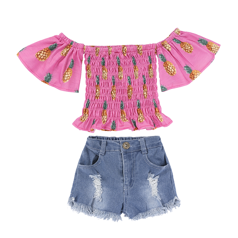 Children Sets for Girls Fashion 19 New Style Girls Suits for Children Girls T-shirt + Pants + Headband 3pcs. Suit ST307 99