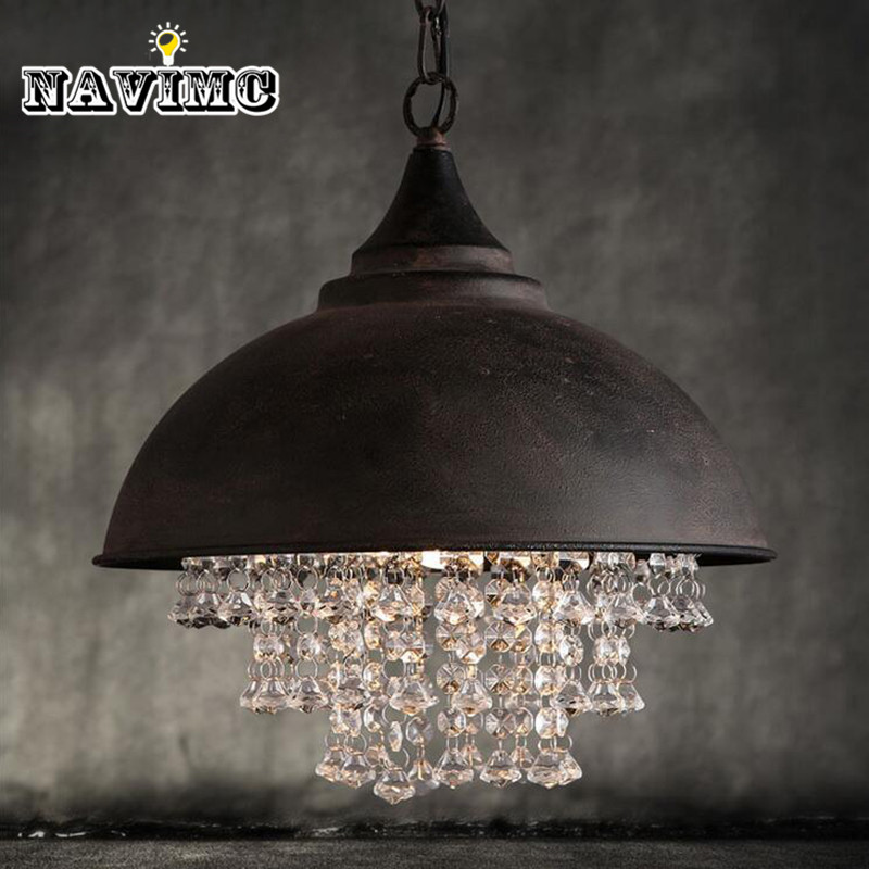 Lampe vintage Loft éclairage de chandelier suspension en cristal design suspensions lumineuses pour La Maison Hôtel Restaurant Décoration
