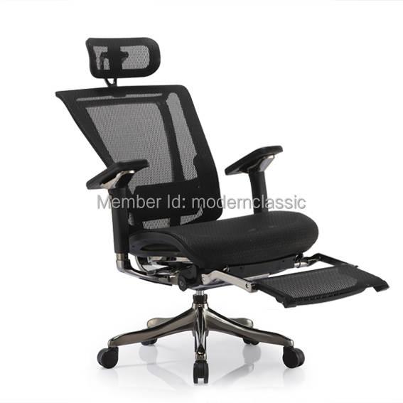 Ergohuman V2 Luxury High Back Office Mesh Chair Ergonomic Plus Folding Leg Rest Computer Swivel Executive
