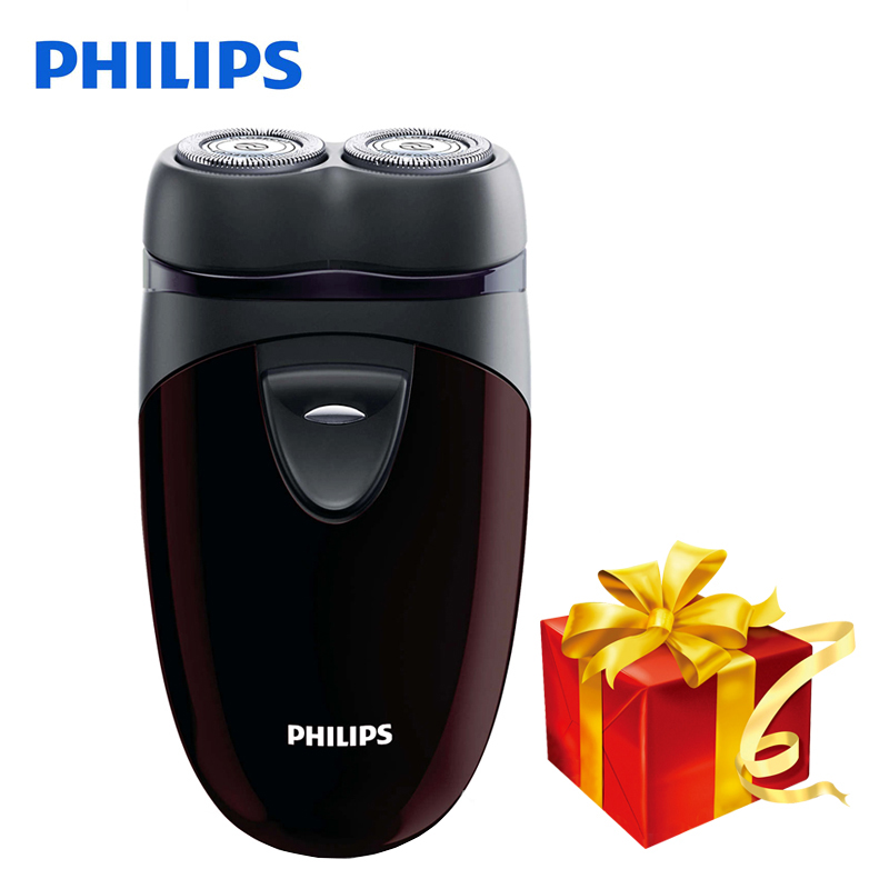 100% echtes Philips Elektrorasierer PQ206 Mit Zwei Schwimm Köpfe AA Batterie Gesichtskontur Tracking Für männer Elektrorasierer