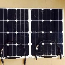 Rg 30w гибкие солнечные панели sunpower Монокристаллический Модуль для сотовых элементов DIY Kit 12v зарядное устройство