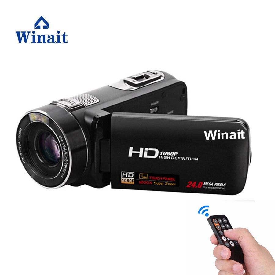 Winait 120x digital zoom camcorder full hd 1080p, 3.0'' touch display digital video camera wiht 10x optical zoom