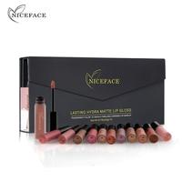 12Pcs Set Matte Long Lasting Lipstick 26 Colors Lip Gloss Waterproof Lip Stick 5gx12 Beauty Lips