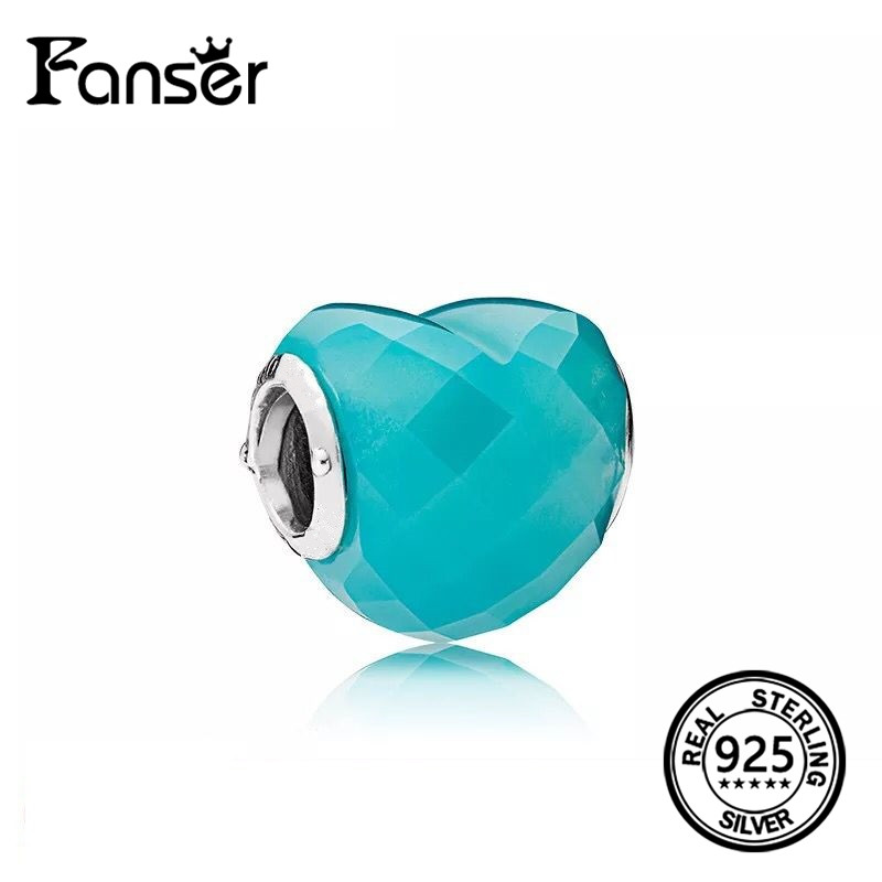 FANSER Summer Selling Blue Sea DIY Bead Love Series Charm Beads Pandor Original Copy Has ...