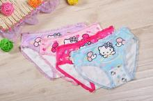 4piece/LOT girl underwear panties  briefs hello kitty hot children pants kids wholesale short panties underware cotton HD2883