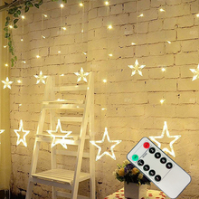 LAIMAIK LED String Christmas Lights 4m Remote Controler Curtain Fairy Garland Led For Home Outdoor Party Garden wedding Decoration