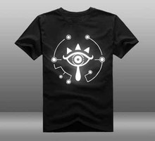 2017 Game The Legend of Zelda Wii U Breath of  the wild Eye T-shirt  reflect light T-shirt Summer Cotton Short Sleeve Tees