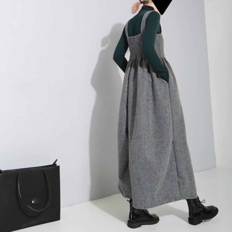 Las Vintage Correa Black gray 2019 Suelta De Ob198 Moda Pantalones Cintura eam tobillo Longitud Alta La Nueva Marea Falda Pierna Primavera Mujeres Ancha xfnqTnFwX