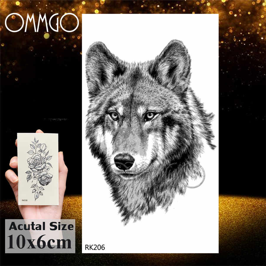 OMMGO ウルフキング銀河宇宙一時的なタトゥーステッカー防水ための偽のタトゥー男性女性カスタム入れ墨ボディアート腕章
