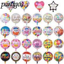 50 teile/los 18inch happy birthday ballon aluminium folie luftballons helium ballon mylar kugeln für kid partei dekoration spielzeug globos