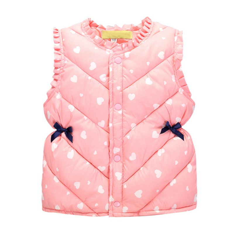 Hot Autumn Winter Kids Girls Cotton Tank Top Waistcoats Heart Printed Baby Girls Apparel Outerwear шорты accelerate printed hot