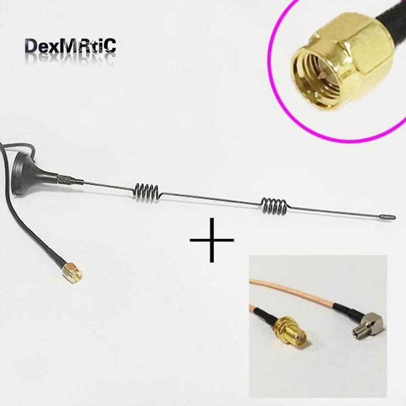 1PC 25 mm 2.4 G 2DBi Gain SMA-J Connecteur Mâle Noir 90 Degré//Droite Mini Court