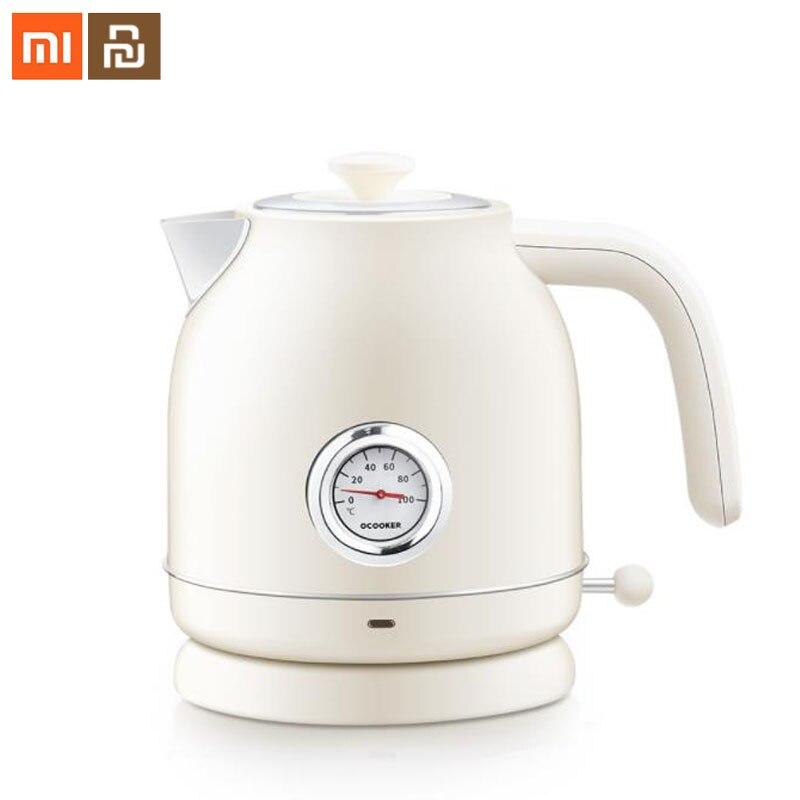 D'origine xiaomi mijia électrique bouilloire importés température contrôle 1.7L grande capacité en acier inoxydable matériel ménage bouilloire