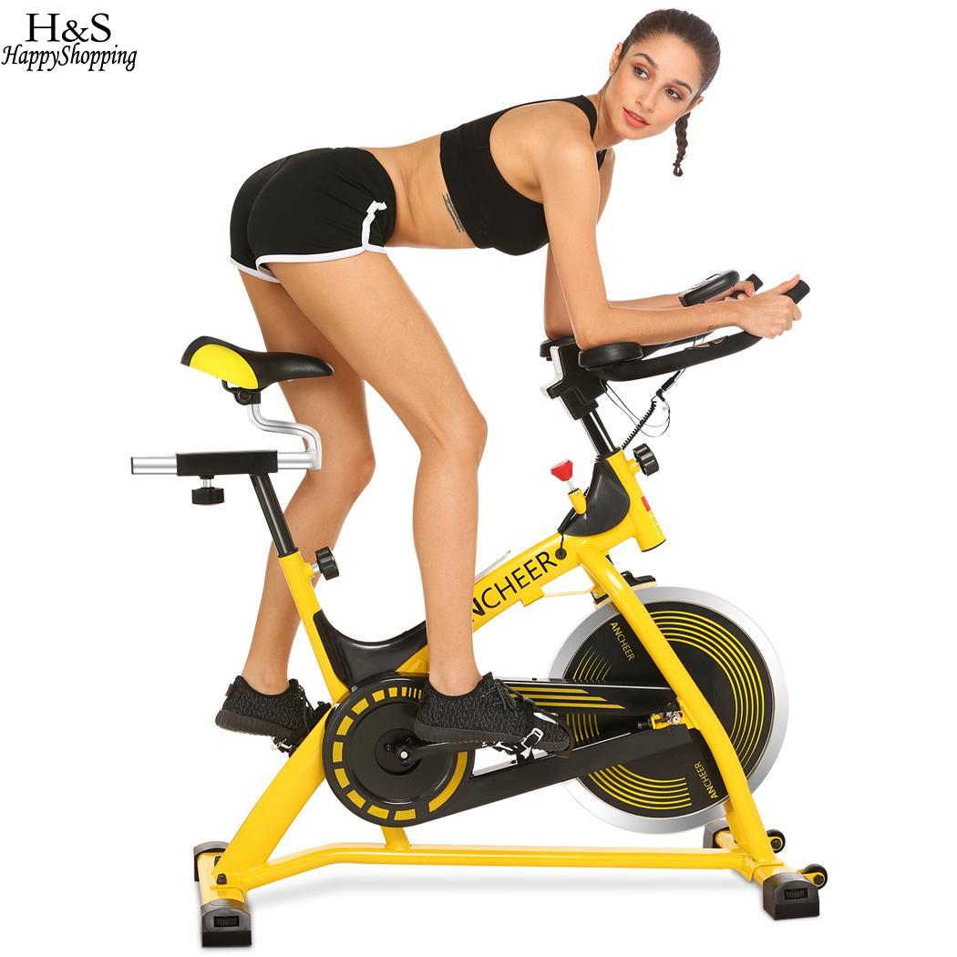 ANCHEER Training Indoor Cycling Bikes Cardio Home Gym Fitness Indoor Spinning Cycling Bike Exercise Aerobic