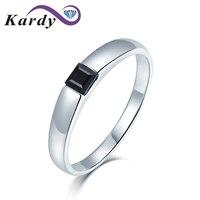 Fashion Women's 4x4mm Asscher Cut Natural Spine Gemstone 14K White Gold Wedding Emgagement Promise Ring