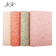 JOJO BOWS 22*30cm Sparkly Chunky Glitter Fabric For Needlework Solid Glazed Sheet Bows Home Decoration DIY Craft Accessory