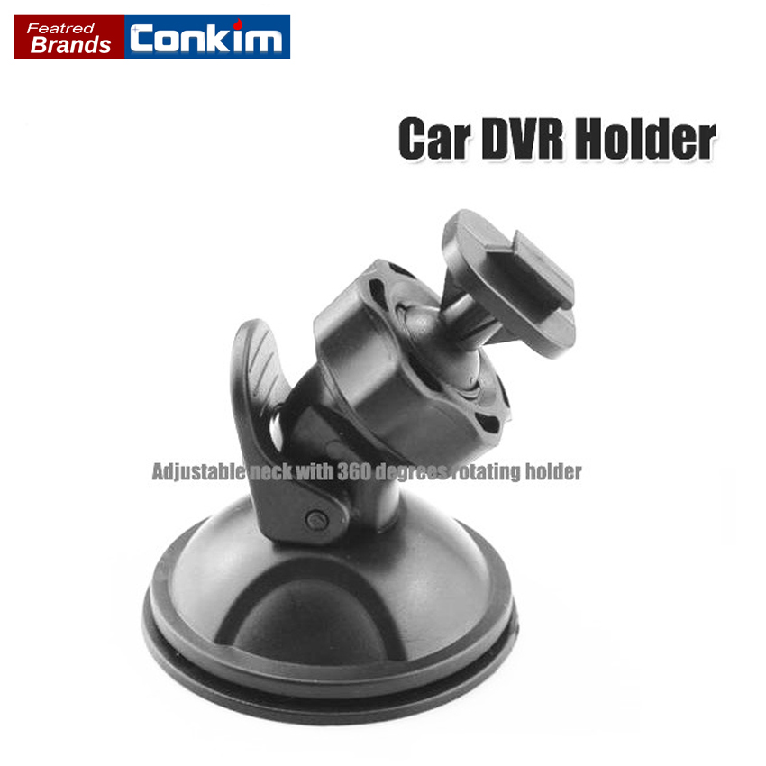 Conkim Black 360 graden draaiende autohouder voor Sport DV Camera Mount DVR Houders Driving Recorder Suction GPS Holder