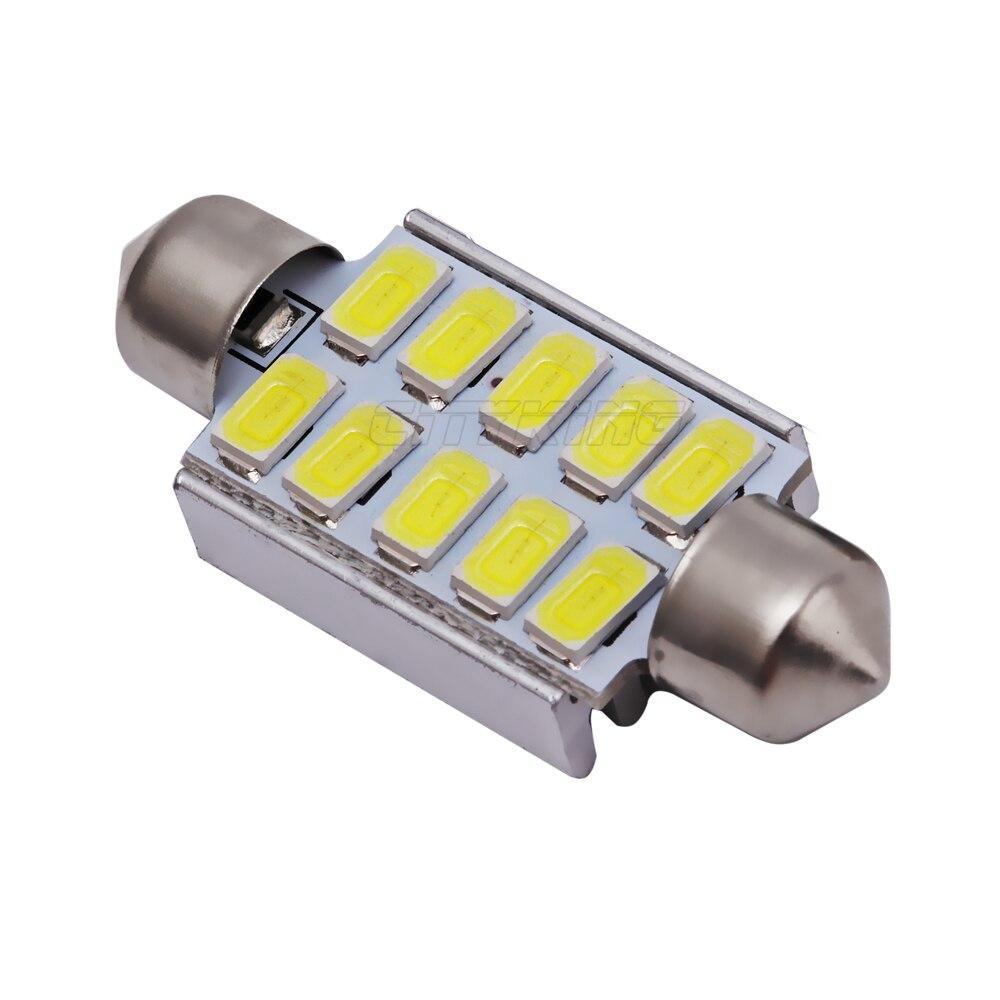 4pcslot festoon 39mm 10smd led canbus error light bulb c5w led car dome light led bulb 11 12 8 9 10 arubaitofo Gallery
