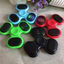 Fidget Spinner Toys LED Music Mini Wireless Portable Bluetooth Speaker Finger Luminous Hand Spinner Spiner Toys For Adult Kids