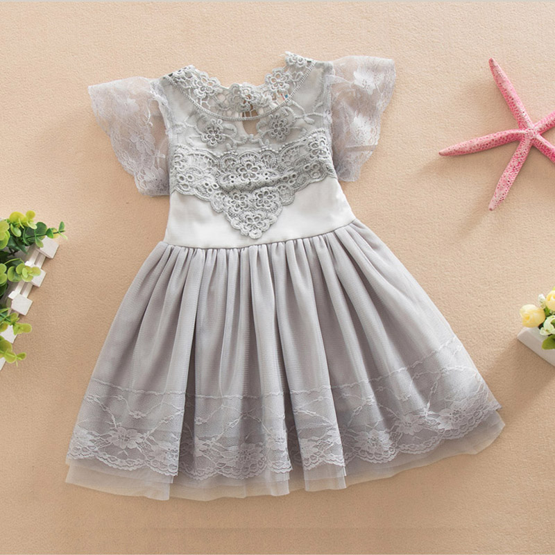 High quality baby lace vest dress toddler infant girls for Wedding dresses for baby girls