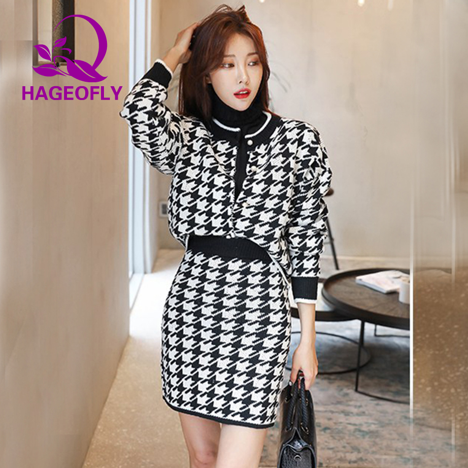 1b5e5e96ef5 Aliexpress.com   Buy New Fashion 2019 Suits Women Black Blue Short Coat  with Mini Skirt Two Pieces Korean Knitted Suit Skirt Office Ladies Clothes  from ...