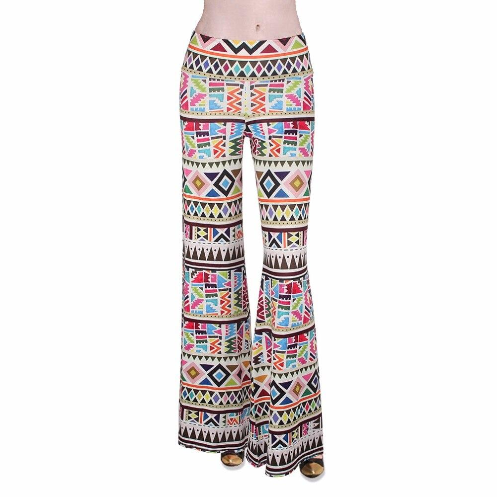 5d61a08d5d044 DANENJOY Fashion Indian Style Print Yoga Pants Women Sport Elastic ...